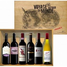 Coffret 6 bouteilles, Voyage autour du Monde