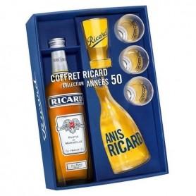 Coffret Ricard 1 Litre avec Carafe et verres Année 50
