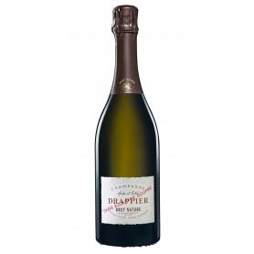 Champagne Drappier Brut Nature Zero dosage sans ajout de soufre