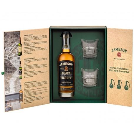 Coffret Jameson Black Barrel Triple Distiller avec deux verres