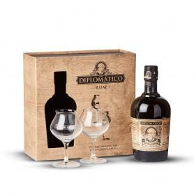 Coffret Diplomatico Selection de Familia avec 2 verres