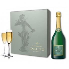 Coffret Champagne Deutz Brut classic + 2 flûtes