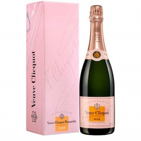 Champagne Veuve Clicquot Rosé sous coffret