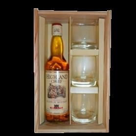 Coffret Highland Chief + 3 verres